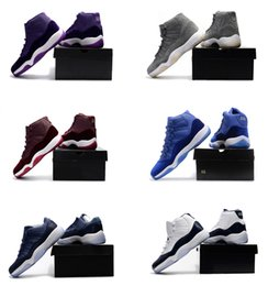 Wholesale Chocolate Box Pvc - (With box) Air retro 11 men Basketball Shoes Low GS HEIRESS Midnight Navy OVO White cat Greenl Velvet Heiress blue chocolate 72-10 Sneakers