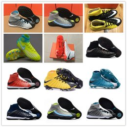Wholesale Cr7 White Indoor Shoes - 2017 New CR7 Hypervenom X Proximo II DF TF Nail Mens High Quality Airs Cushion Soccer Boots for Cleats Sports Football Shoes Size6.5-11