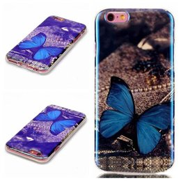 Wholesale Galaxy S3 Tiger - Bling Blu-ray Flower Soft TPU Case For Samsung Galaxy S3 S4 S5 S6 edge plus S7 edge Dreamcatcher Paris Tiger Butterfly Kiss Dandelion