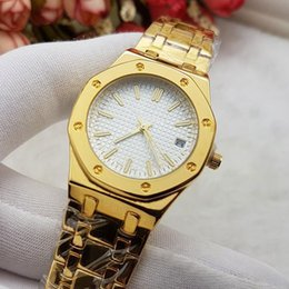 Wholesale Gold Banded Dresses - Top Brand Designer AAA luxury Ladies watches Dress Stainless Steel band With Auto Date Quartz Wrist watch For women Valentine Gift Wtach