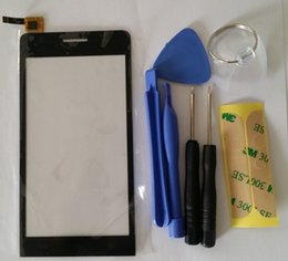 Wholesale Replace Phone Screen - Wholesale- 4.5 inch For Explay Tornado Touch Screen Touch Glass Lens With Sensor Digitizer Replace Phone Front Panel Free Tools 3M Adhesive