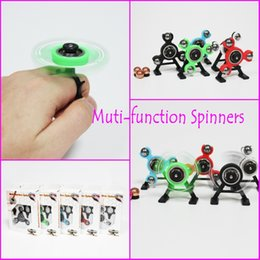 Wholesale Wholesale Plastic Pencil Boxes - Muti-function Spinner with Retail Box Fidget Spinners Snap Spinner Center Snap Goll Slide Top Spin Pencil EDC Toy Decompression Toys