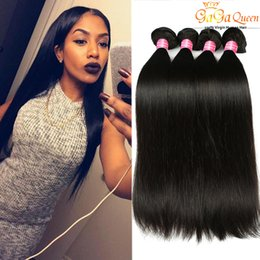 Wholesale Human Hair Straight Weft Weave - Brazilian Straight Hair 3 or 4 Bundles Unprocessed Brazilian Virgin Human Hair Extensions Peruvian Malaysian Indian Virgin Hair Straight