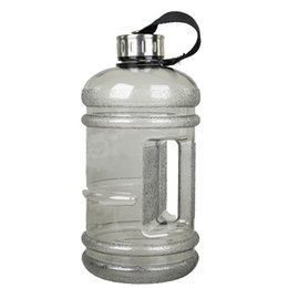 Wholesale Grey Lifts - 2L Large Capacity Outdoor Space Plastic Water Bottles Environmental Protection Blowout Proof Space Bottle With Lifting Rope Gray Green Pink