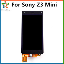 Wholesale Compact Touch Screen Display Panel - Best Quality Repair Parts For Sony Z3 Mini Compact D5803 D5833 LCD Panel Touch Screen Digitizer Assembly Display Free Shipping