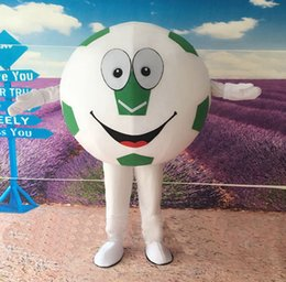 Wholesale Football Mascots - Green Soccer Football Mascot Costume Fancy Birthday Party Dress Halloween Carnivals Costumes With High Quality For Adult