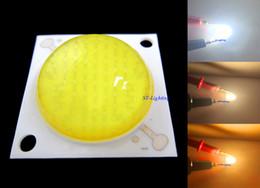 2019 azzurro principale riflettore chip Lampada chip LED COB da 50W Cool White, Warm White, Gold giallo 50watt 30V-36V DC 1500mA con obiettivo 60-80 ° ad alta luminosità, Confezione da 10