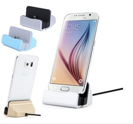 Wholesale Docking Stations Micro Usb - Universal Micro USB Charging Dock Stand Station Desktop Sync Dock Charger For Samsung HTC LG Android Smart Phone