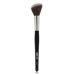 makeup black hair Coupons - 1pcs Blush Contour Oblique Makeup Brushes Soft Synthetic Hair Black Wood Handle Professional Multipurpose Make up Cosmetic Brush Tools