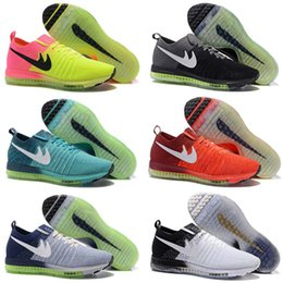 Wholesale Barefoot Trainers - New Air Mesh Zoom All Out Flywire Barefoot Knit Trainer Men Casual Shoes Jogging Zapatos Size 40-45 Eur