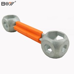 Wholesale Galvanizing Steel - 10 in 1 Galvanized Steel Hexagon Wrench Durable Bicycle Bike Repair Tool Bone Shape Hexagon Wrench Spanner 10 Holes Size 6-15mm