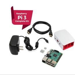 Freeshipping Ahududu Pi 3 KOMPLE Başlangıç Kiti, Siyah, Ahududu Pi3 Modeli B Barebones Bilgisayar Anakart 64bit Dört Çekirdekli IŞLEMCI 1 GB RA nereden duvar köşebentleri lcd tedarikçiler