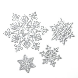 Wholesale Craft Dies - 4pcs set Snowflake Cutting Dies Christmas Metal Cutting Dies Stencils for DIY Die Cut Stencil Decorative Scrapbooking Craft