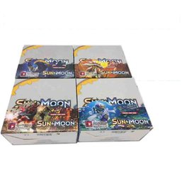 Wholesale New Kids Board Games - 324pcs set New Poke Trading Cards Sun and Moon Model Poke Card for Children Kids Anime Cartoon Party Board Games Toys