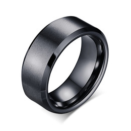 Wholesale Silver Gold Plated Jewelry Rings - Meaeguet 8mm Wide Textured Men Tungsten Wedding Rings Jewelry High Quality Tungsten Carbide Rings Gold Black Silver Plated TCR-011