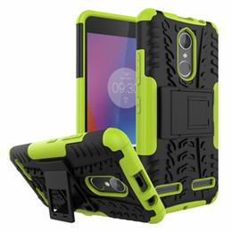 Wholesale Lenovo Silicone - For Lenovo K6 Phone Case 2in1 Dual Layer Kickstand Heavy Duty Armor Shockproof Hybrid Silicone Cover Case For Lenovo Vibe K6