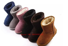 Wholesale Plastic Canvas Kids - Hot sell Original High-quality Kid Boys girls children baby warm snow boots Teenage Students Snow Winter boots Free shipping Australia 5281