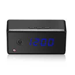 Wholesale Night Vision Spy Cameras Wireless - 1080P WIFI Wireless Night Vision Remote Clock Spy Camera WIFI hidden alarm clock for Android and IOS