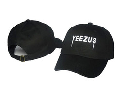 Wholesale Army Fitted Hats - 2017 Yeezus Cap Men Polo Hat 100% Cotton Chapeau Strapback Snapback Fitted Hats Adjustable Snapback Caps Gorras 6 Panel Hat Hip hop cap