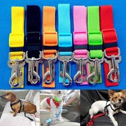 Wholesale Dog Leash Collars - New Fashion Cat Pet Safety Belt Useful Convenient Vehicle Car Dog Seatbelt Adjustable Harness For Outdoor