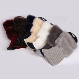 Wholesale Cuffed Boots - Wholesale- Womens Winter Warm Crochet Knit Fur Trim Leg Warmers Cuffs Toppers Boot Socks