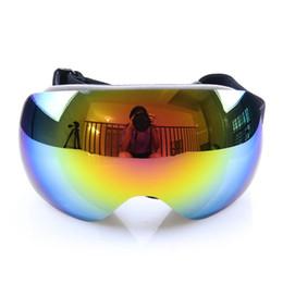 Wholesale Motocross Goggles Tinted - Wholesale- Ski goggles polarized 100%UV400 anti-fog Tinted goggles eyewear women Motocross Snowboard glasses men professional Skiing mirror