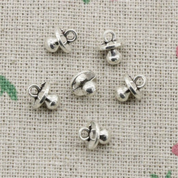 Wholesale Necklace Pacifier - 200pcs Charms baby pacifier binky teether 9*7*6mm Antique Silver Pendant Zinc Alloy Jewelry DIY Hand Made Bracelet Necklace Fitting