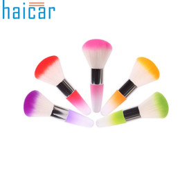 Mejores herramientas de arte de uñas online-Venta al por mayor- Mejor precio Haicar Hot! Soft Nail Art Dust Brush Manicure Tool Nail Brush Beauty Cosmetic Brush 1 unids