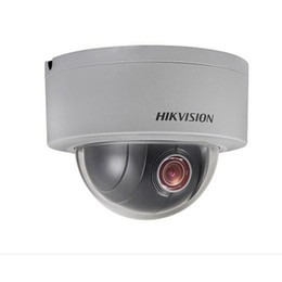 Wholesale Hikvision 3mp - Original English Hikvision DS-2DE3304W-DE 3MP 4x Zoom 2.8~12mm Support POE IP67 IK10 DWDR mini PTZ Dome Network Camera