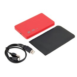 "Wholesale Eletronic Case - Wholesale- 1 pcs New USB 2.0 480Mbps Enclosure Case Box for Laptop 2.5"" SATA Hard Drive Promotion Eletronic Hot"