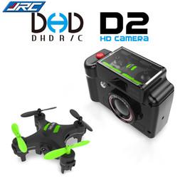 Wholesale Mini Camera 2mp - 2017 Fashion DHD D2 Mini Drone with Camera 2MP 2.4GHz 4 Channel 6 Axis Gyro Quadcopter 3D Rollover RTF Dron VS JJRC H20 H8 CX-10