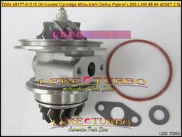 Wholesale 4d56 Mitsubishi Pajero Turbocharger - Oil Turbo CHRA Cartridge TD04 49177-01510 49177-01511 MD094740 MD168053 For Mitsubishi Delica Pajero L200 L300 4D56T 4D56 2.5L