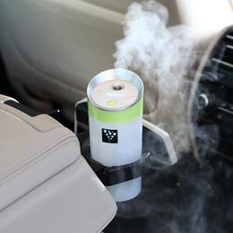 Wholesale Mini Car Ionizer - USB 5V power supply ultrasonic ionizer water diffuser with Mist Humidifier portable mini car air purifier humidifier