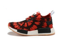 Wholesale Spiders Lights - red black spider nmd r1 running shoes sport 2017 Sports trainer Primeknit Kicks red soft bottom NMD runner shoes for men women