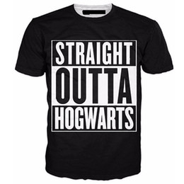Wholesale Hottest Fashion Wholesale - Wholesale- 2017 Hot Fashion brand clothing English Hogwarts 3D printed T-shirt Men's Casual Hip Hop Style Homme Tops