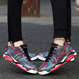 Wholesale Large Sized Cushions - 17929004 2017 new lovers Casual Air cushion shoes Large size 47 Shock absorption and wear resistance Wade same paragraph basketball shoes