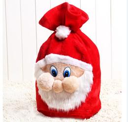 Wholesale Gunny Bags - Large Embroidered Personalised Christmas Santa Sack Bag Gift xmas Drawstring Pouch big Bag Santa Claus dress up props gunny bag