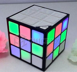 Wholesale Usb 36 - 2017 NEW Magic Cube Colorful 36 LED Flash Bluetooth Mini Speaker Wireless Portable Super Bass Sound Subwoofer Handsfree free DHL