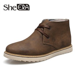 Wholesale New Style Boots For Men - Wholesale- British Style New 2016 Leather Men Boots Fashion Warm Cotton Brand ankle boots Shoes men for Spring Autumn Winter botas hombre