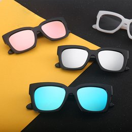 Wholesale Large Clear Glass - Korean Trend of the V brand sunglasses large bright color coated glasses wholesale men and women general retro sunglasses 2110