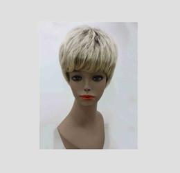 Wholesale Blonde Mixed Kanekalon Wig - Very Very Short Blonde Mix Full Synthetic Wig Kanekalon Wigs