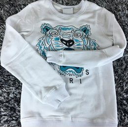 Wholesale lapel sweater - KEVZO embroider tiger herd fleeces Sweater Fashion Men Woen o-neck Hoody Sweatshirt Women Hoodies lady Hoodies Europe American
