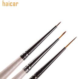 Wholesale Sable Brush Sets - Wholesale- Nail Brushes HAICAR Set of 3 Professional Sable Nail Art Drawing Painting Pen Brush Detailer Liner Striper Tools 160913