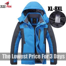 Wholesale Men S Jacket 7xl - Wholesale- king Size 5XL,6XL,7XL,8XL 9XL warm Winter Jacket Men fleece thicken waterproof cotton down parka men jacket coats brand clothing