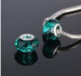 50 pcs mélangé 925 en argent sterling cristal vert à la main au chalumeau Murano verre charme perles pour Pandora européen bijoux bracelet ? partir de fabricateur
