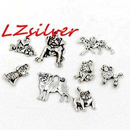 Wholesale Dog Charms Mix - Hot ! 160PCS Antique Silver Zinc Alloy Mix Dog charm pendants 8- style DIY Jewelry