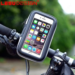 Wholesale Leather Bag For Bike - Bicycle Phone Holder Mobile Phone Stand for iPhone Samsung 4.7 5.5 6.3 Inch GPS Bike Holder with Waterproof Case Bag