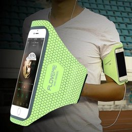 Arm-geldbörse online-FLOVEME Universal 4,7 '' Screen Phone Sport GYM Laufen Tasche für iPhone 7 / 7plus wasserdichte Arm Band Handy Gürtel Abdeckung