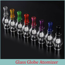 Wholesale Electronic Vaporizer Ego Wax - glass globe e cigarette dry herb atomizer dry herb vaporizer ecigs wax vape pen for ego t evod battery electronic cigarette
