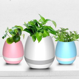 Wholesale Wireless Induction Speakers - Music Green Plant Smart Bluetooth Speaker Music Flower Pots Home Office Decoration Green Plant Music Vase Touch Induction Creative by DHL